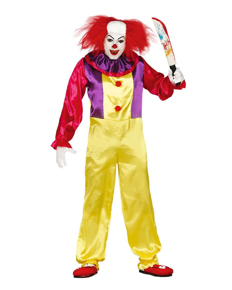 killer clown costume clown costume at low prices horror. Black Bedroom Furniture Sets. Home Design Ideas