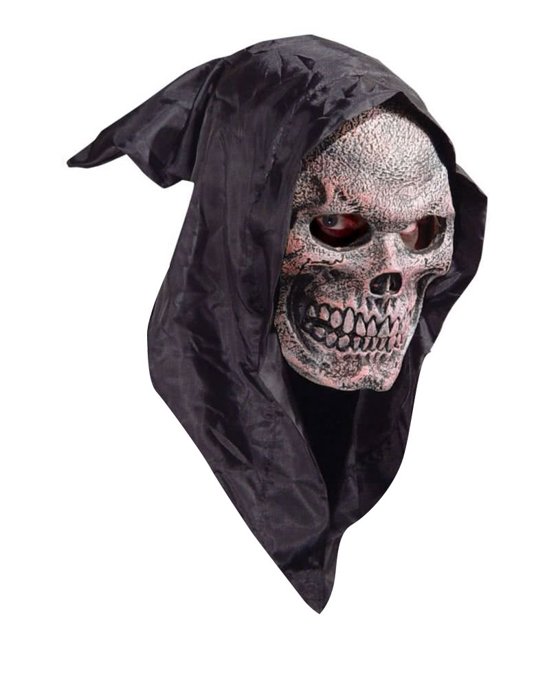 kapuzen skull maske reaper maske f r halloween horror. Black Bedroom Furniture Sets. Home Design Ideas