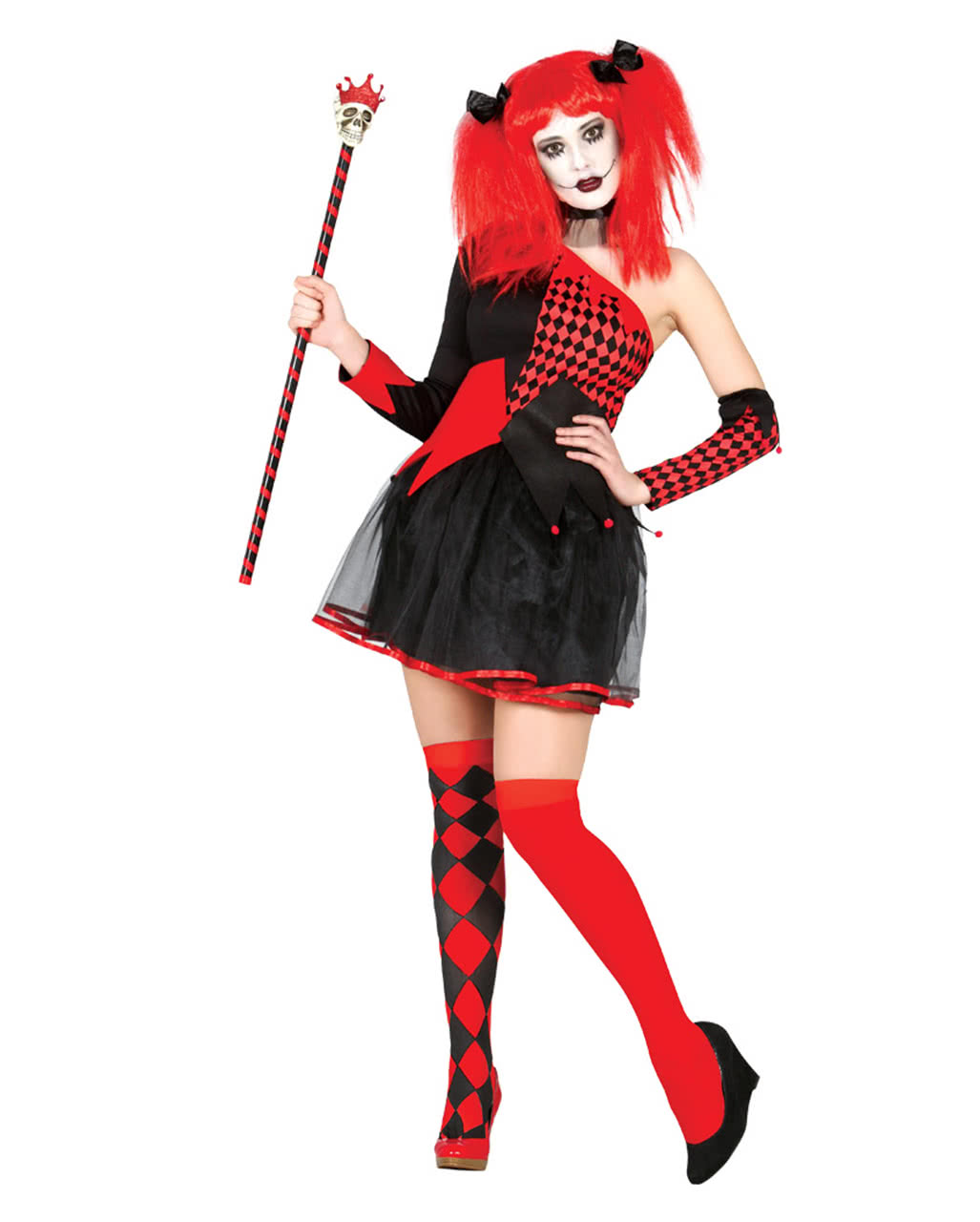 harlequin queen woman costume for movie theme parties horror. Black Bedroom Furniture Sets. Home Design Ideas