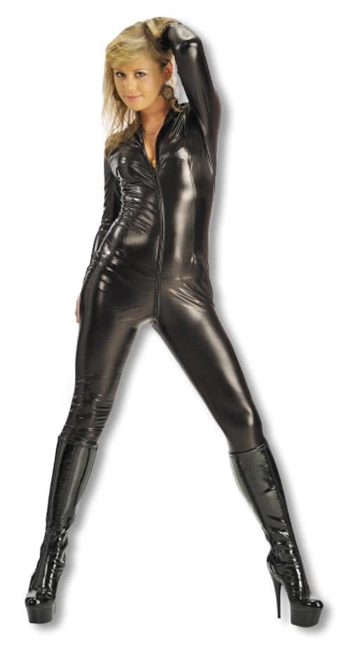 lycra catsuit schwarz ganzk rper anzug body suit schwarzer. Black Bedroom Furniture Sets. Home Design Ideas
