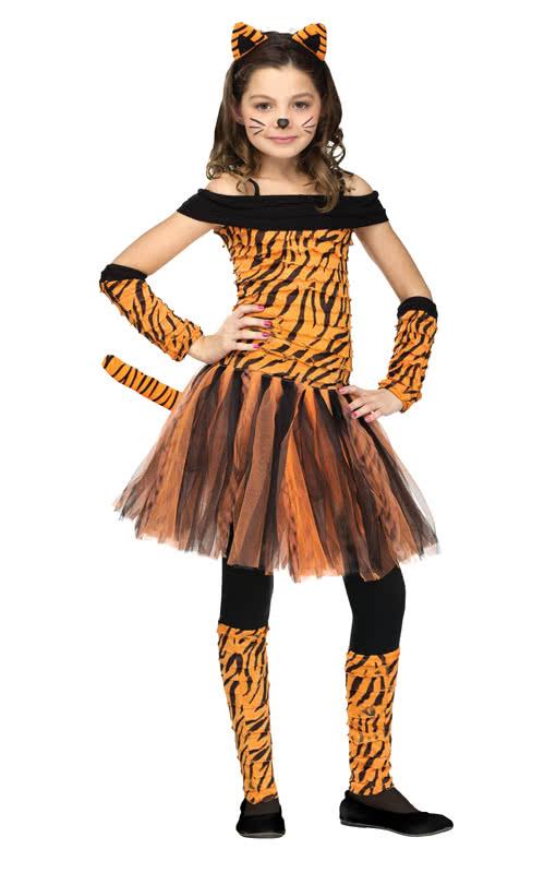 miss tiger kinderkost m tiger kost m f r m dchen horror shop com. Black Bedroom Furniture Sets. Home Design Ideas
