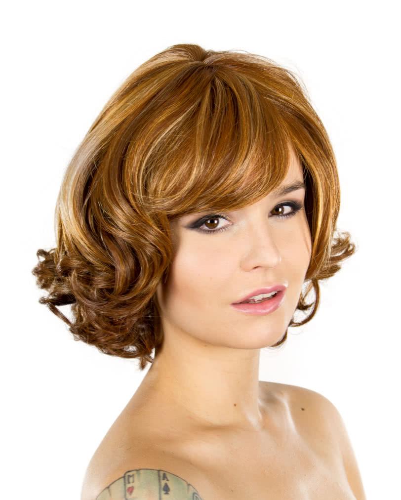 Perücke <b>Vera braun</b>-rot meliert - peruecke_vera_braun_rot-wellige_damenperuecke-ladies_wig_brown_red-24276
