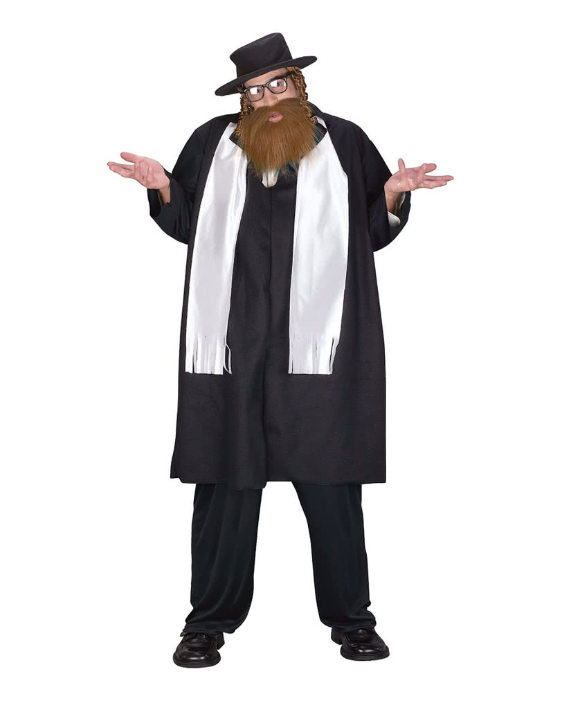 rabbi costume with bart xl for a religious appearance on halloween horror. Black Bedroom Furniture Sets. Home Design Ideas