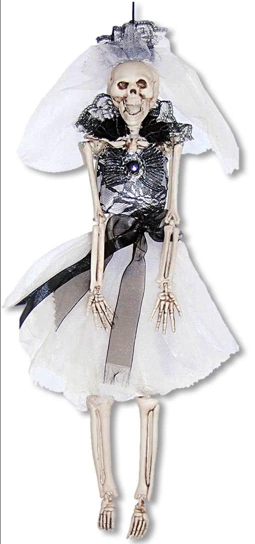 schwarze skelettbraut h ngefigur deko skelett skelett braut horror. Black Bedroom Furniture Sets. Home Design Ideas
