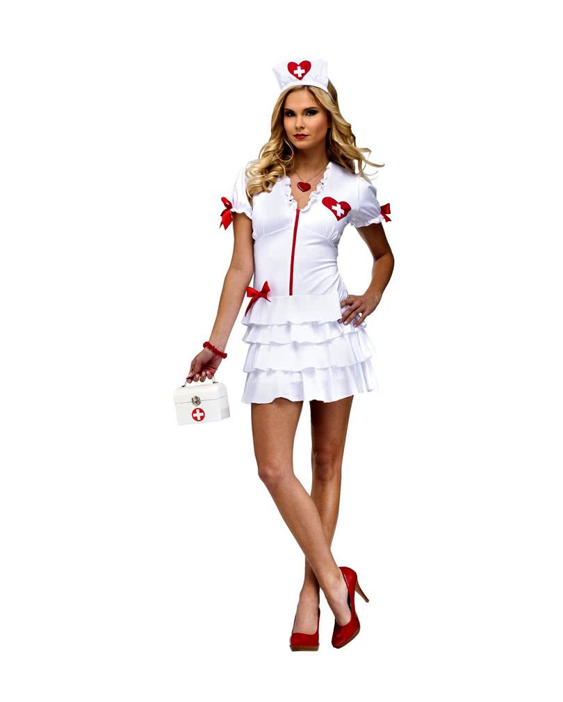 sexy nurse kost m attraktive krankenschwester kleid horror shop com. Black Bedroom Furniture Sets. Home Design Ideas