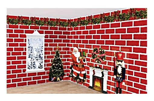 weihnachts wandfolie weihnachtsdekoration online bestellen horror shop com. Black Bedroom Furniture Sets. Home Design Ideas