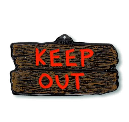 zutritt verboten schild halloween warnschild als dekoration horror shop com. Black Bedroom Furniture Sets. Home Design Ideas