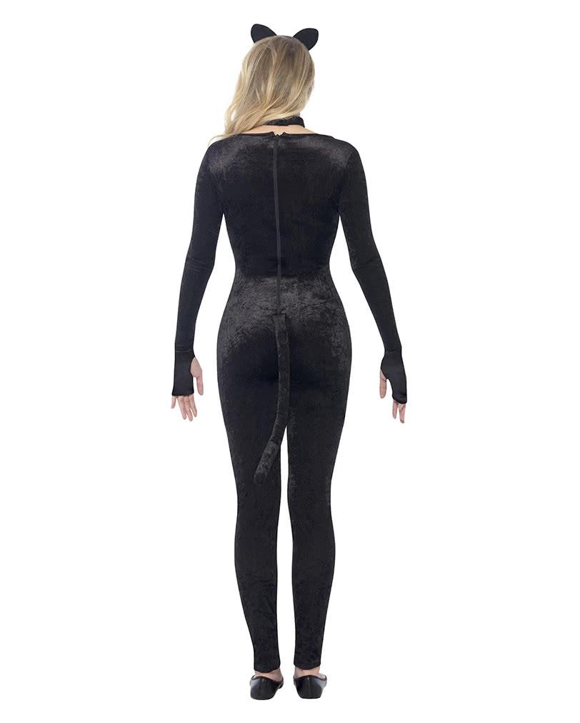 schwarze katze kost m sexy overall f r miezekatzen horror shop com. Black Bedroom Furniture Sets. Home Design Ideas