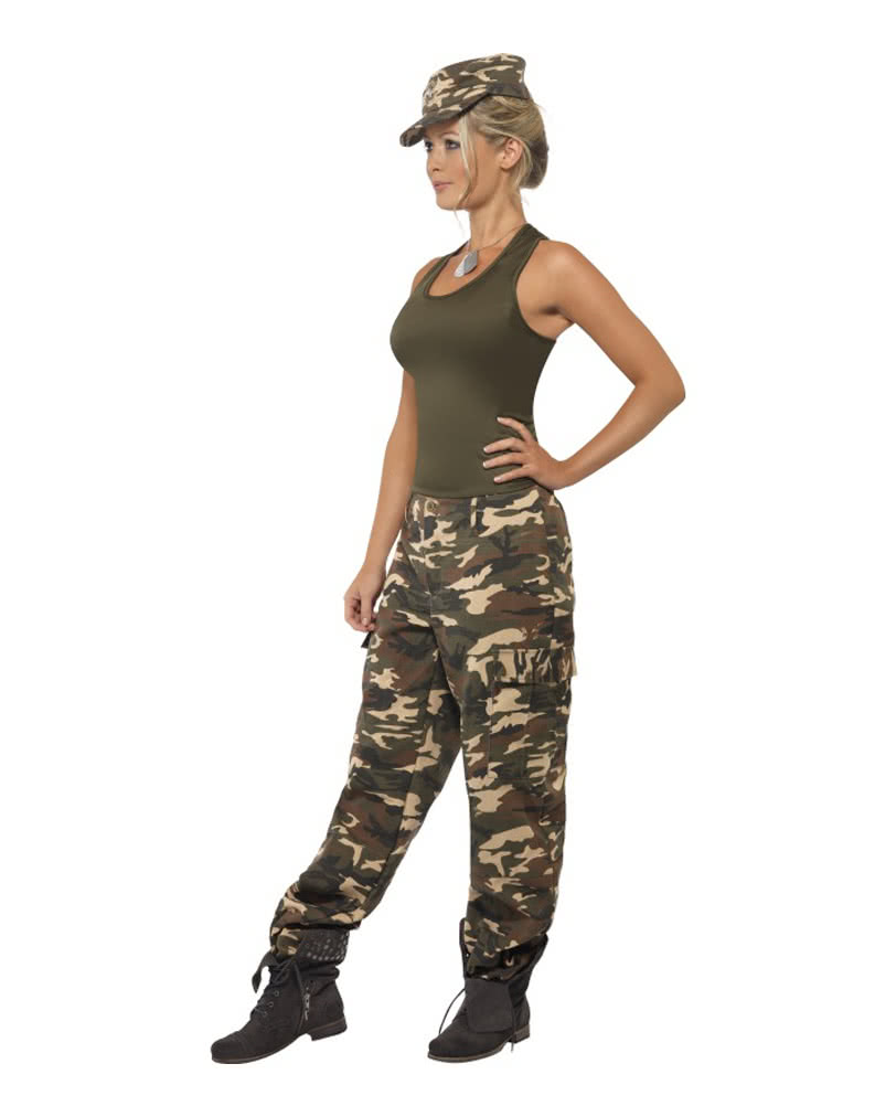 camouflage damen kost m sexy army outfit f r damen horror shop com. Black Bedroom Furniture Sets. Home Design Ideas